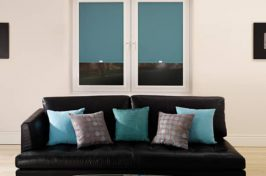 blackout blinds turquoise