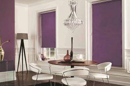 blackout blinds purple